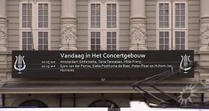 Concertgebouw gevel aankondiging